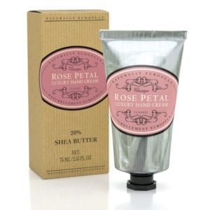 hand cream rose petal Naturally European
